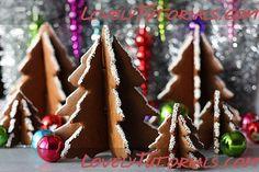 3D Christmas Tree Gingerbread Cookies tutorial