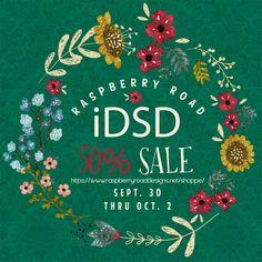 DSD Sale at Raspberry Road Designs. https://www.raspberryroaddesigns.net/shoppe/