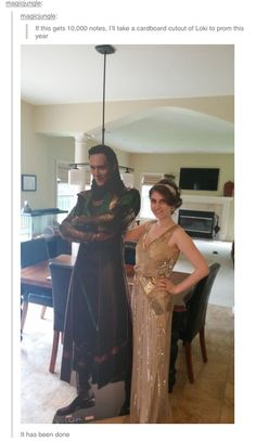 If only Tom Hiddleston's Loki had been around when I went to prom...