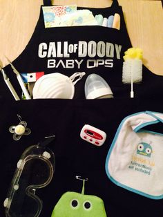 First Father's Day daddy doody apron