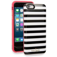kate spade new yorkiPhone6 & 6s charging case ($100) ❤ liked on Polyvore featuring accessories, tech accessories and kate spade