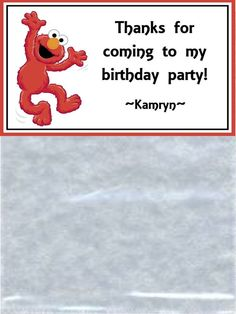 Personalized Birthday Party Favor Toppers And Bags - Elmo - Set Of 12 Toppers And Bags on Etsy, $6.00