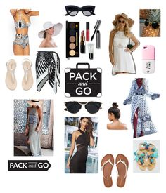 """""""Untitled #50"""" by shirinmir ❤ liked on Polyvore featuring La Perla, Bobbi Brown Cosmetics, Aéropostale, Christian Dior, Kitsch, Eric Javits, Free People, Valfré, Packandgo and greekislands"""