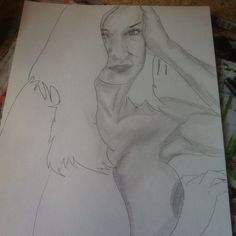 The last drawing for today before painting #art #artist #eroticart #pencil #sexy #fineart #drawing