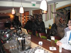 "not really ""Krampus"" a Austrian tradition. Visiting the guests in the Hotel Mitterhofer Traditional"
