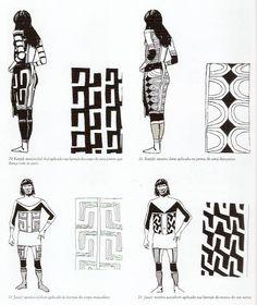 Desenhos Indígenas - isso aqui parece saia, mas é mais focado em padrões de pintura - roupa