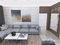Funkčná elegancia - Dizajn kuchyne s obývačkou - Kristína Bedečová Living Room Kitchen, Luster, Couch, Furniture, Home Decor, Elegant, Settee, Decoration Home, Sofa