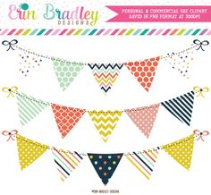 Craft Party Clipart Bunting – Erin Bradley/Ink Obsession Designs
