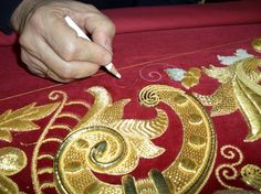 goldwork embroidery designs | Beautiful goldwork embroidery!