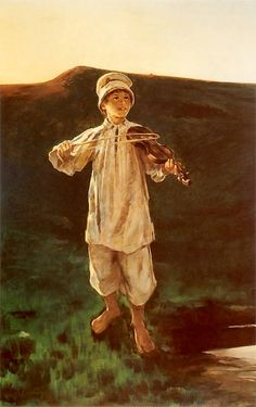 Witold Pruszkowski - Pastuszek, 1896 Baby Images, Spirituality, Painting, Enchanted, Pictures, Children, Violin, Museum, Art