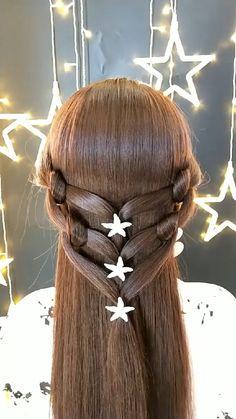 Cute Hairstyles For Medium Hair, Pixie Hairstyles, Braided Hairstyles, Wedding Hairstyles, Braids For Long Hair, Braid Hair, Hair Up Styles, Light Brown Hair, Hair Videos