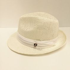 712c8c864b7c8 Details about Bruno Capelo Men s Bleach White Straw Fedora Hat Escobar  Sizes Small -XL NEW