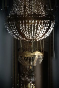 Light Bulb Wattage, Ivy House, Can Lights, Antique Lighting, Grey And Gold, Chandelier Lighting, Crystal Chandeliers, Crystal Decor, Decoration
