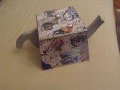 Ahşap vintage bitki çay kutusu