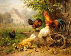 На птичьем дворе... Carl Jutz (German, 1838-1916). Обсуждение на LiveInternet…