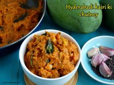 Hyderabadi kairi ki chutney (Raw mango chutney) Vegan Gluten Free, Vegan Vegetarian, Pickle Mango Recipe, Garlic Uses, Dried Chillies, Indian Food Recipes, Ethnic Recipes, Lentil Curry, Curry Leaves