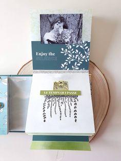"""Invitée créative Florilèges Design : album """"Lovely day"""" avec la collection """"Yellow"""" - Le blog de Flo Mini Albums Scrapbook, Enjoy The Silence, Tampons, Craft, Blog, Minis, Collection, Scrapbooking, Yellow"""