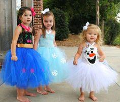 Preciosos Vestidos y disfraces para niñas hechos con tutú