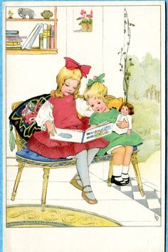 Reading with dolly