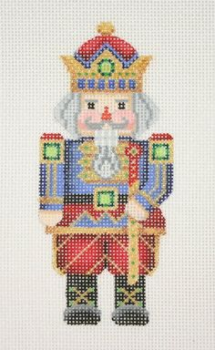 Specializing in hand painted needlepoint designs. please contact your local needlepoint store to purchase! Needlepoint Designs, Needlepoint Kits, Needlepoint Canvases, Blackwork Embroidery, Cross Stitch Embroidery, Christmas Cross, Christmas Charts, Nutcracker Christmas, Christmas Ideas
