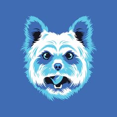 Yorkshire Terrier illustration by Bandito for Golden Doodle. #yorkie