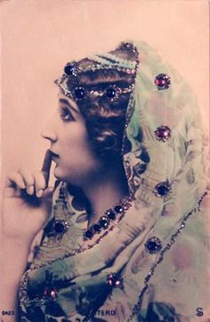Shop Mood Board •~• *jewel tones* gypsy, Caroline Otero, 1900