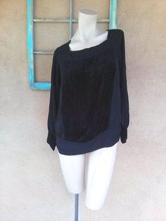 Vintage 1920s Blouse Black Silk Velvet Flapper Gatsby Shirtwaist Medium Large Up to B40 2015349 - pinned by pin4etsy.com