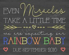 Custom Rainbow Baby Pregnancy Announcement by SweetCheekersDesigns