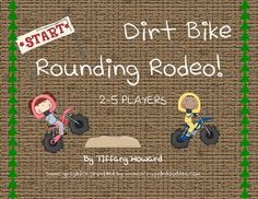 Dirt Bike Rodeo Rounding is the perfect game to help students practice estimating. In this game, two to five players race their dirt bikes across the dirt hills to be the first to reach the finish line. The game includes three sets of rounding cards so teachers can differentiate for students.