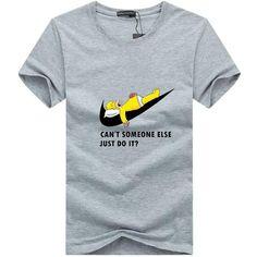 Camiseta Humor Simpson ¨Alguém Pode Ir Lá Fazer ?¨ Tamanho S a 5XL (P a 5XG)