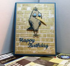 PatternBirtday Steve sm by smadson - Cards and Paper Crafts at Splitcoaststampers Crazy Bird, Crazy Dog, Crazy Cats, Bear Birthday, Birthday Cards, Happy Birthday, Scrapbook Cards, Scrapbooking, Tim Holtz Stamps