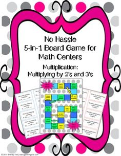 Want an easy-to-use center game that aligns to the exact learning objectives you're teaching? The 5 different games included in this set enable students to practice different ways of multiplying by twos and threes in a fun and engaging way!