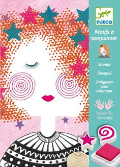 Djeco ~ Stamps ~ Fashion Girl Look Craft Cupboard, Whimsical Art, Educational Toys, Love Art, Baby Toys, Wooden Toys, Girl Fashion, Arts And Crafts, Artist