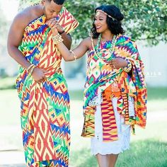 34 Latest Ghanaian Kente Dresses Styles For Engagement To Copy in 2019 African Wedding Hairstyles, African Wedding Attire, Western Wedding Dresses, African Weddings, Ghana Traditional Wedding, African Traditional Wedding Dress, Couples African Outfits, Ghana Wedding, Yoruba Wedding