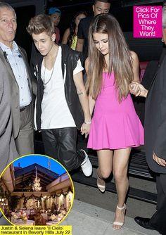 Justin Bieber and Selena Gomez Birthday Dinner