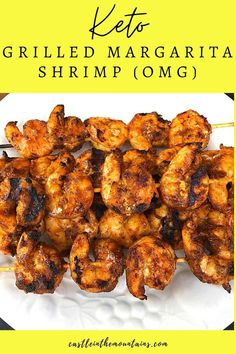 This Keto Margarita Shrimp Recipe is a star! It's a low carb winner winner grilled shrimp dinner Rockstar that screams Mexican spicy goodness.