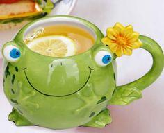 3D Frog Ceramic Coffee Mug
