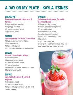 day on a plate kayla itsines, kayla itsines diet, what does kayla itsines eat, kayla itsines meal plan