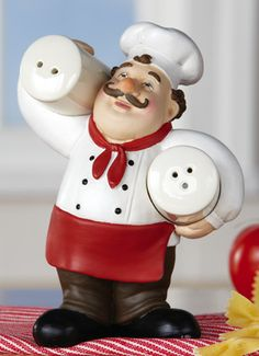 Charmant Italian Chef Kitchen Decor Salt U0026 Pepper Holder So Cute!