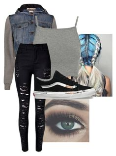 """""""~~"""" by looking-fly ❤ liked on Polyvore featuring Bellezza, Moschino, Topshop and Vans"""