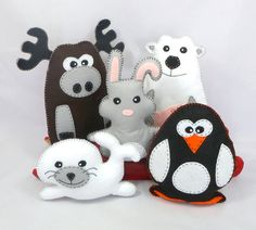 Stuffed Animal Sewing Patterns Polar Animals por LittleSoftieShoppe