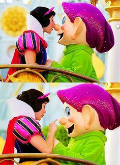 Disney World - Snow White.    okay I admit it I love dopey.  lol