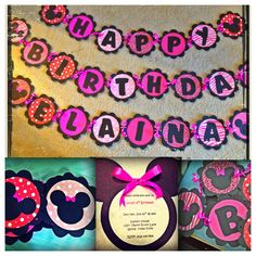 Done! Minnie Mouse birthday party craft