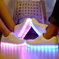 Led Shoes, Light Up Sneakers, White Or Black, For Men, Women, Children