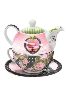 tea for one Tea For One, My Cup Of Tea, Chocolate Pots, Chocolate Coffee, Teapots And Cups, Teacups, Tea Tins, Tea Pot Set, Tea Art