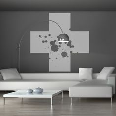Cross - vinyl wall sticker from YeYe Shop by YeYe Shop