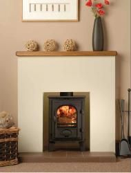 "Stovax Stockton 3 Multi Fuel Stove The Stovax Stockton 3 is the smallest in the Stockton range and is designed to fit into a standard 22"" (560mm) high x 16"" (405mm) wide British fireplace opening with the fireback removed."