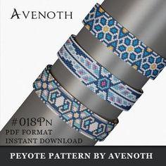 peyote bracelet pattern, bead pattern, beading, peyote stitch, jewelry pattern, peyote pattern, digital file, pdf pattern, avenoth #018PN