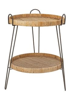 Let natural elements back into the home with this side table from Bloomingville. With two tiers of natural rattan, it has a wonderfully minimalist frame and it's the perfect addition to your reading n Mini Bar At Home, Bars For Home, Oriental Furniture, Rattan Furniture, Furniture Design, Machine Made Rugs, Reading Nook, Grey Rugs, Household Items