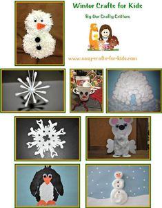 Fun and easy winter crafts for kids of all ages!  www.easy-crafts-for-kids.com/winter-crafts-for-kids.html